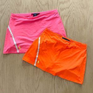Lot x2 Neon Womens Ralph Lauren Short Tennis Athletic Skort M